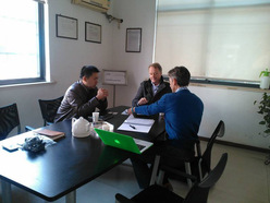 Injection mold manufacturing projects meeting in our factory