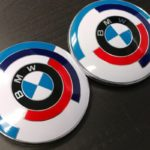 injection molded logo's bmw